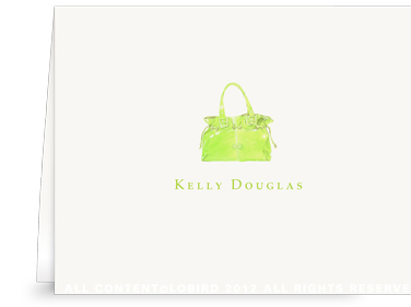 Lime Handbag - Folded Note Cards