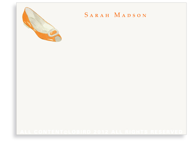 Orange Flat - Flat Note cards