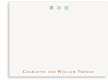 Trio of Snowflakes - Flat Note Cards