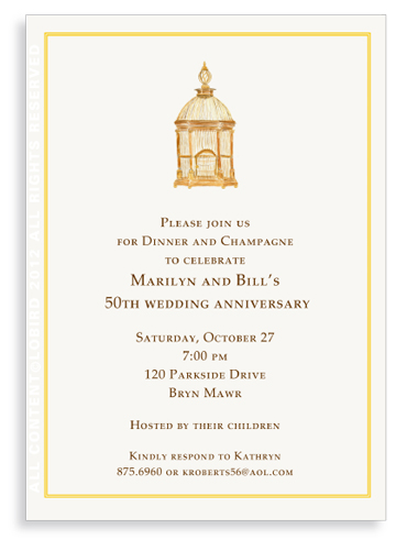 Antique French Brass Birdcage - Invitations