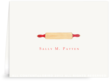 Rolling Pin - Folded Note Cards