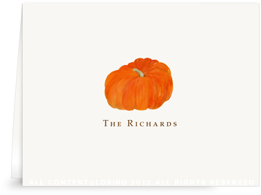 Heirloom Pumpkin - Folded Note Cards