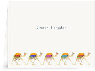 Festive Camel Parade - Folded Note Cards