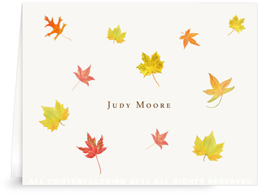 Autumn Leaves - Folded Note Cards