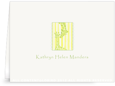 Giraffe Mother & Child - Folded Note Cards