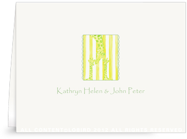 Mother with Twin Giraffe - Folded Note Cards