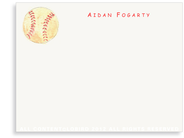 Baseball - Flat Note cards