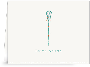Caribbean Lacrosse Stick - Folded Note Cards