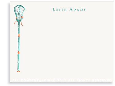 Caribbean Lacrosse Stick- Flat Note Cards
