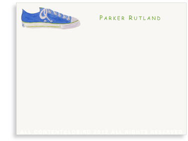 Blue Sneaker - Flat Note cards
