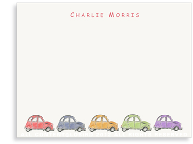 French Citroen - Multi Color - Flat Note Card