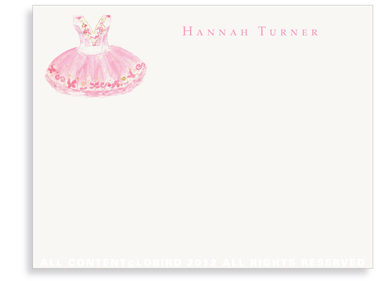 Sugar Plum Ballet Dress - Flat Note cards