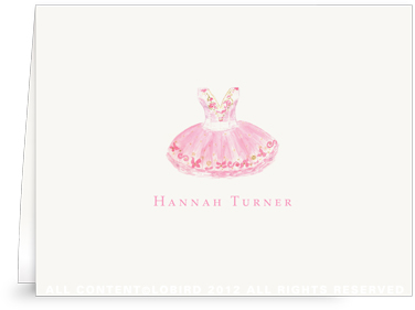 Sugar Plum Ballet Dress - Folded Note Cards