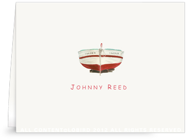 Red Boat - Kids -Folded Note Cards