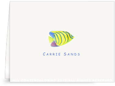 Angel Fish - kids- Folded Note Cards