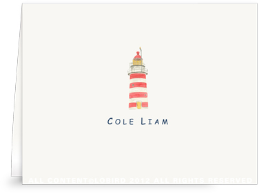 New England Lighthouse - Kids- Folded Note Cards