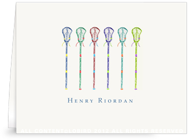 Lacrosse Stick Collection 1 - Folded Note Cards