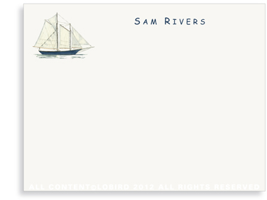 Schooner - Kids- Flat Note Cards