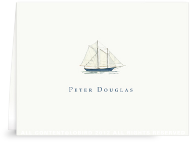 Schooner - Folded Note Cards