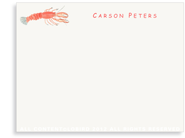 Lobster - Kids - Flat Note cards