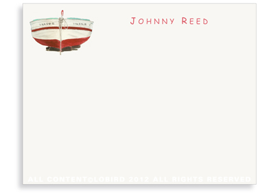 Red Boat - Kids - Flat Note cards