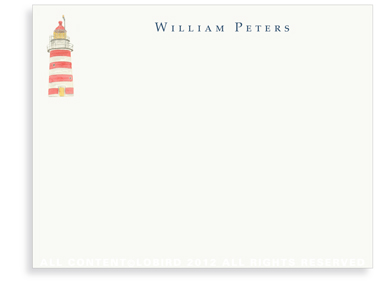 New England Lighthouse - Flat Note cards