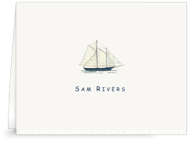 Schooner - kids- Folded Note Cards
