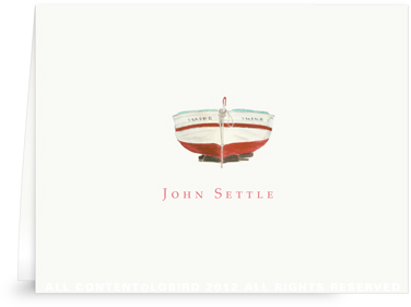 Red Boat - Folded Note Cards