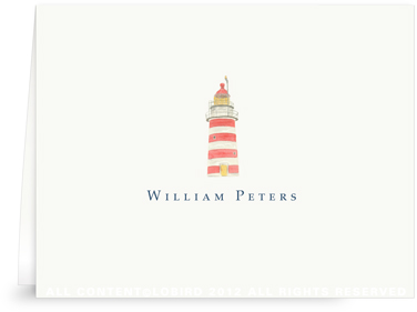 New England Lighthouse - Folded Note Cards