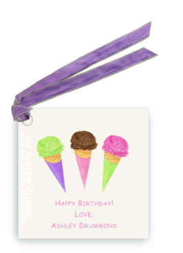Ice Cream Cones - Gift Tags