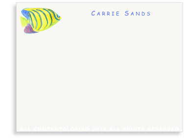 Angel Fish - Kids - Flat Note cards