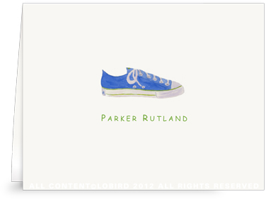 Blue Sneaker - Folded Note Carsd