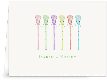 Lacrosse Stick Collection 2 - Folded Note Cards