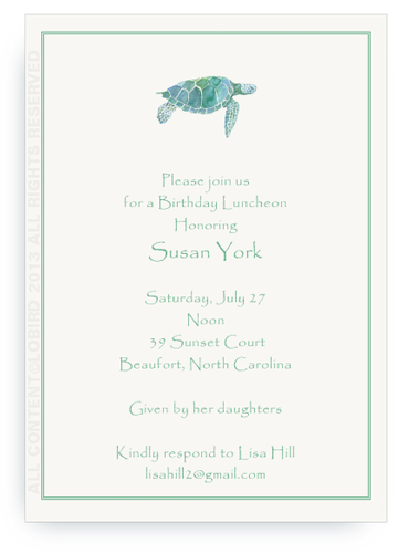Sea Turtle - Invitation