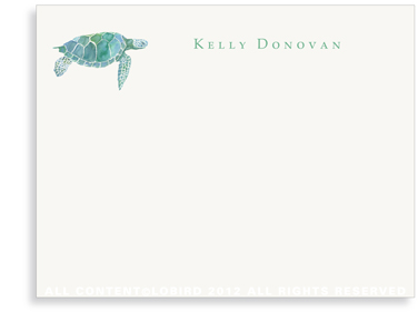 Turtle - Flat Note cards