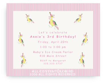 Classic Lobird with Party Hat - Invitations