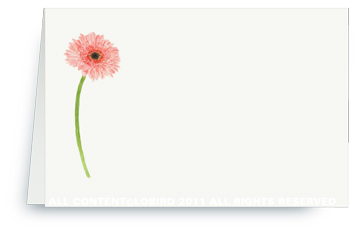 Gerber Daisy - Place cards