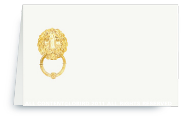 Parisian Lion Knocker - Placecards