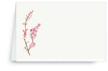 Cherry Tree Blossom - Place Cards
