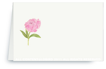 Pink Peony - Place cards
