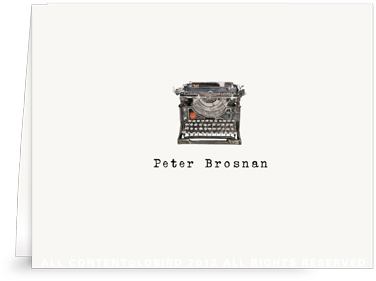 Antique Typewriter - Folded Note Cards