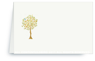 Tangerine Tree with Bird - Placecards
