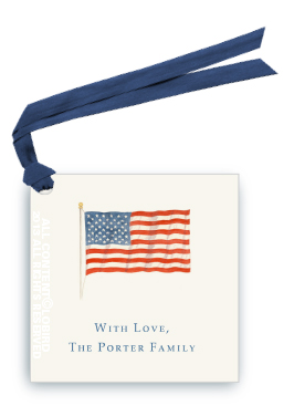 American Flag Gift Tag