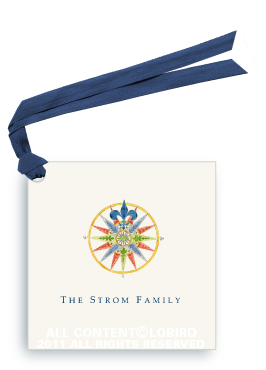 Compass Rose - 16 Point Blue - Gift Tags