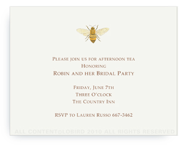 Bee - Invitations