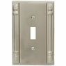 Pineapple Accent Satin Nickel - 1 Toggle Wallplate - CLEARANCE SALE