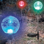 Crackle Globe LED Solar Light