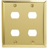 Bright Brass Steel - 4 Despard Wallplate - CLEARANCE SALE