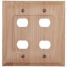 Unfinished Wood - 4 Despard Wallplate - CLEARANCE SALE
