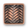 Decorative Weave Antique Copper - Knob - CLEARANCE SALE